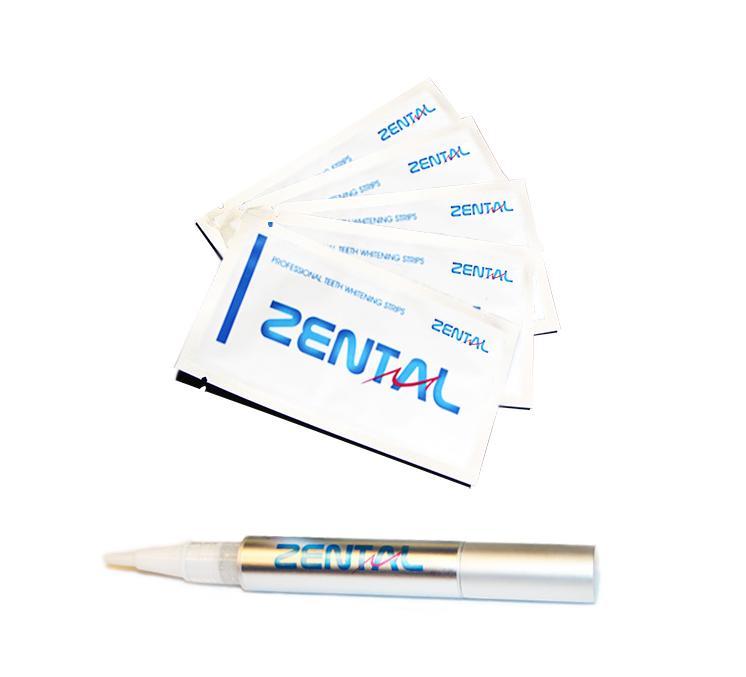 Hampaiden valkaisuliuskat + kynä